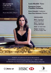 EU Chamber Orchestra St James Picadilly 4.03.2015
