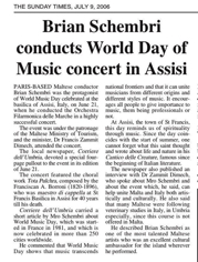 World music day in Assisi STOM 9.07.2006