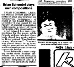 Brian Schembri plays own compositions STOM 23.09.1979