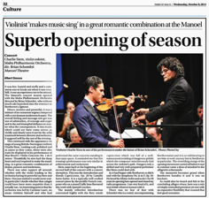Superb Opening of the Season TOM 8.10.2014