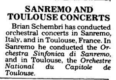 Conducting in France and Italy TOM 9.03.1990