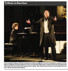 Tribute to Bacchus with Joseph Calleja TOM 14.09.2009