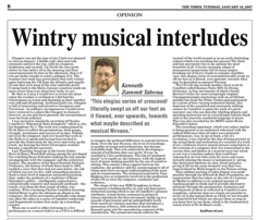 Wintry music interludes TOM 16.01.2007