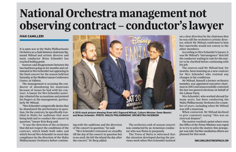 Orchestra management not observing contract  TOM 30.06.2017